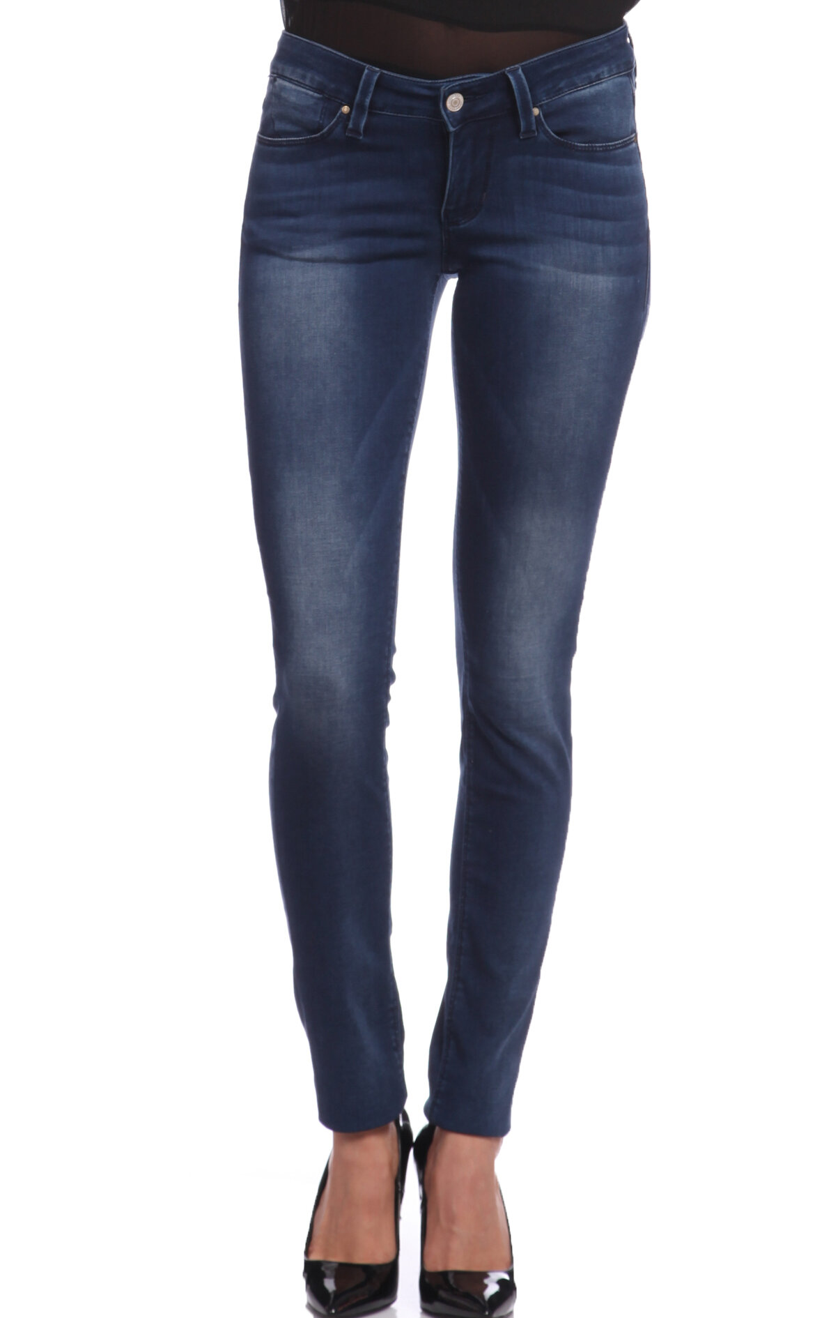 Guess-Guess Taşlanmış Skinny Denim Pantolon