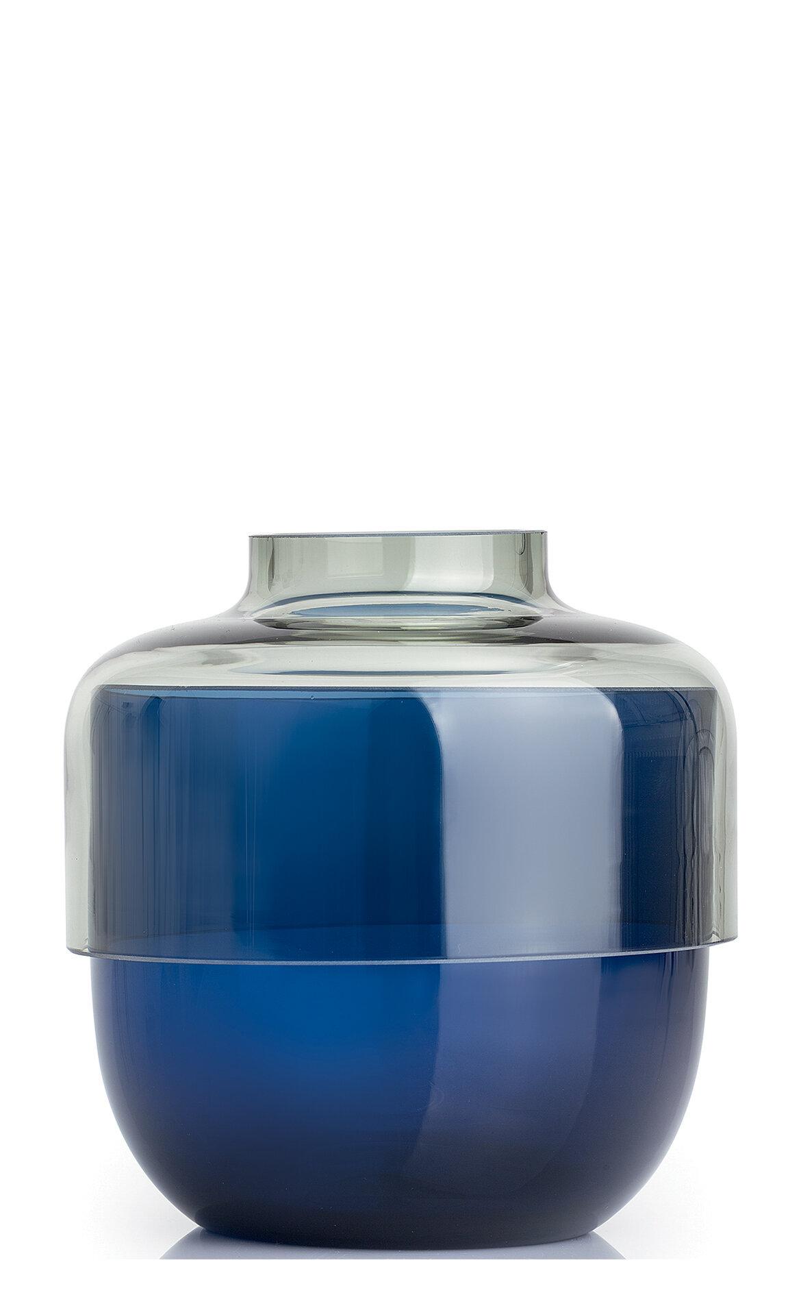 Leonardo Fusion İkili Mavi / Gri Vazo Seti