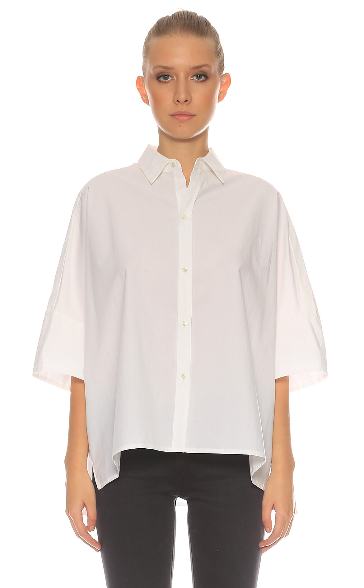 Nili Lotan-Nili Lotan Truvakar Kollu Beyaz Gömlek