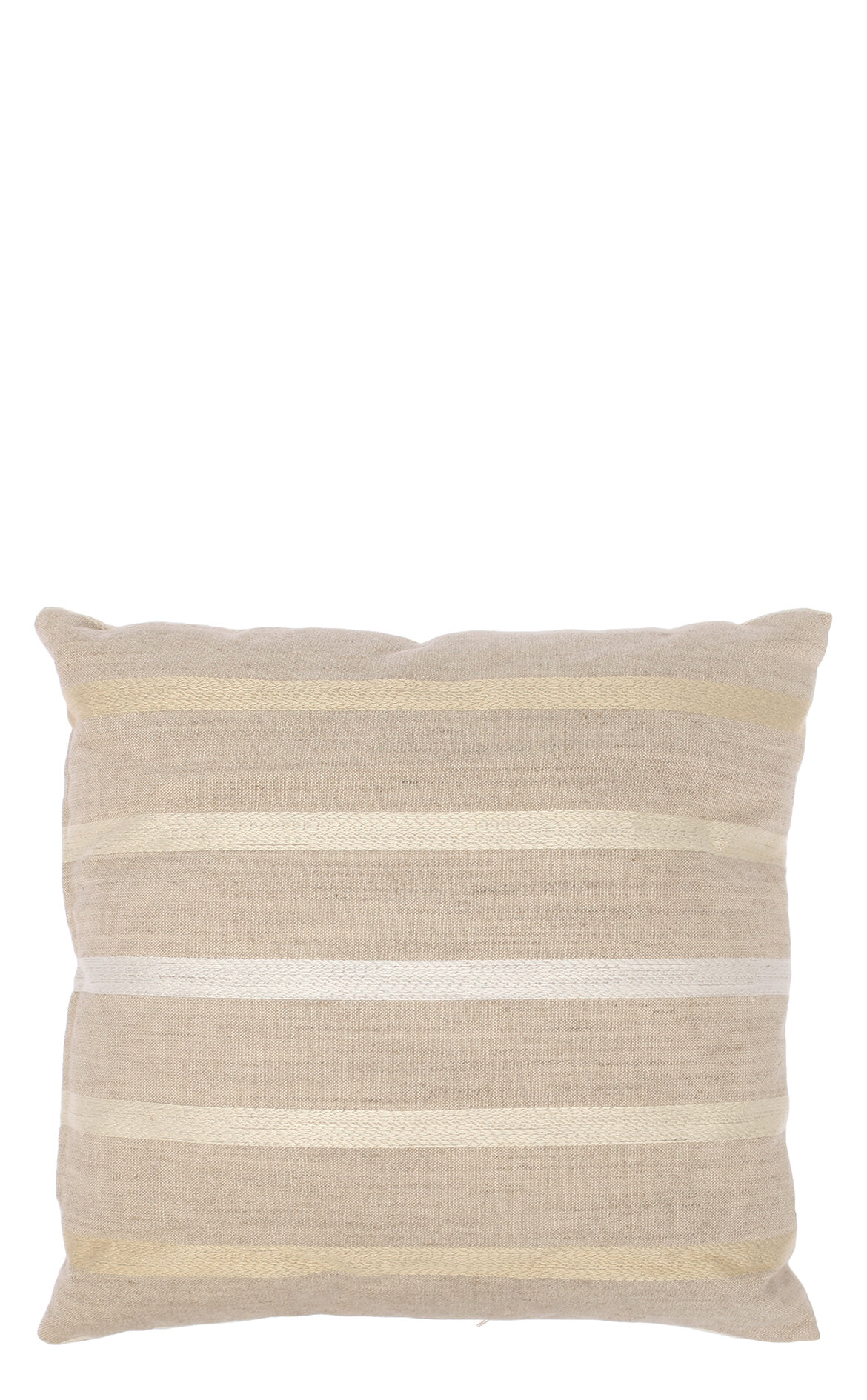 Laura Ashley-Laura Ashley Wvn Stripe Luxford Off White 35X35 cm Dekoratif Yastık