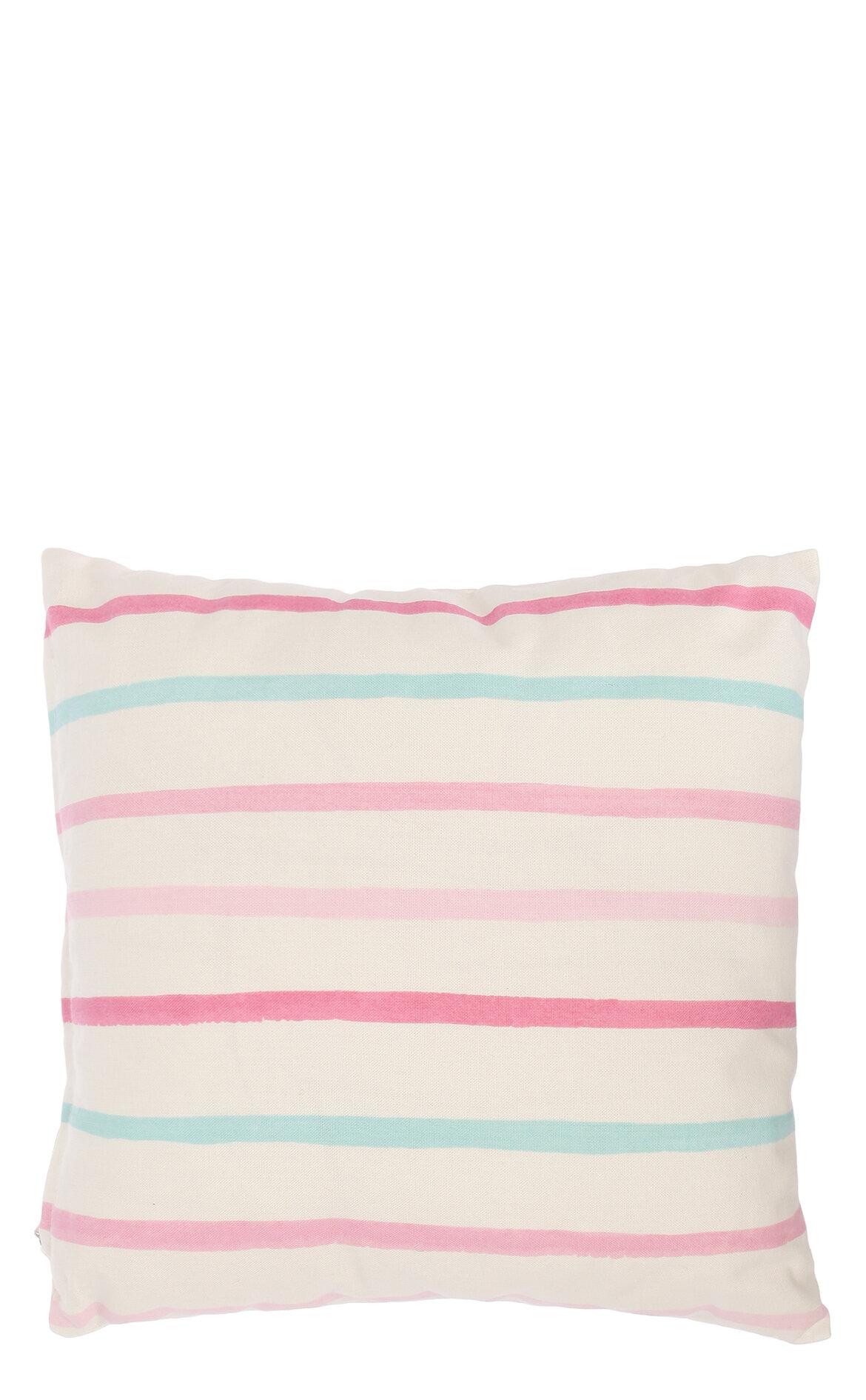 Laura Ashley-Laura Ashley Painterly Stripe Cdf Pink 35X35 cm Dekoratif Yastık