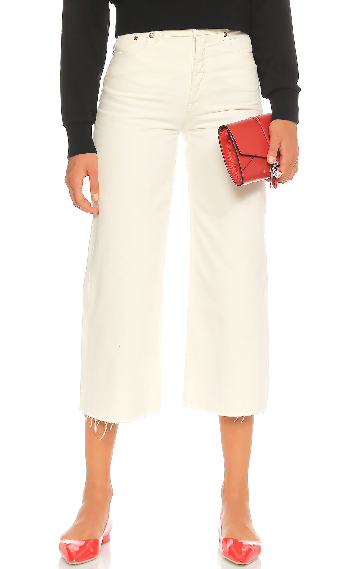 Cheap Monday-Cheap Monday Düz Desen Beyaz Jean Pantolon