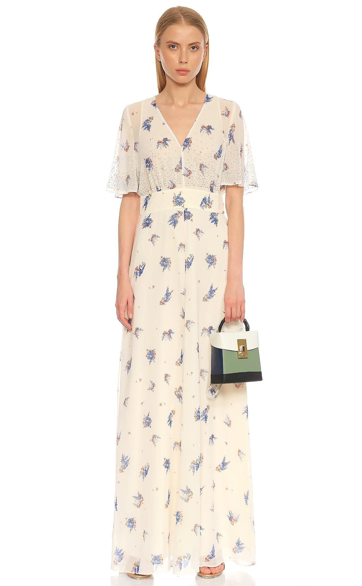 Juicy Couture-Juicy Couture Çiçek Desenli Renkli Elbise