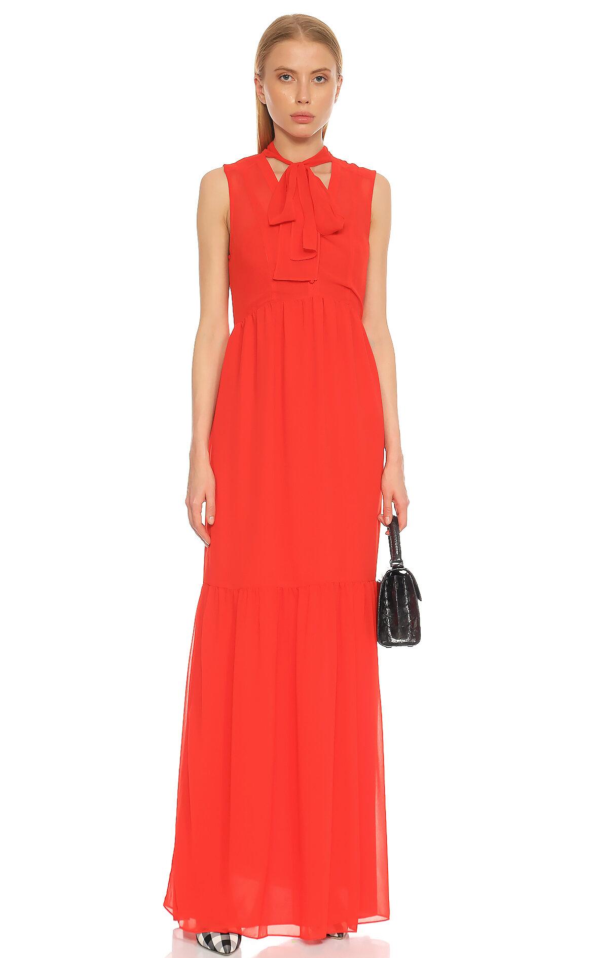 Juicy Couture-Juicy Couture Şal yaka Kırmızı Elbise