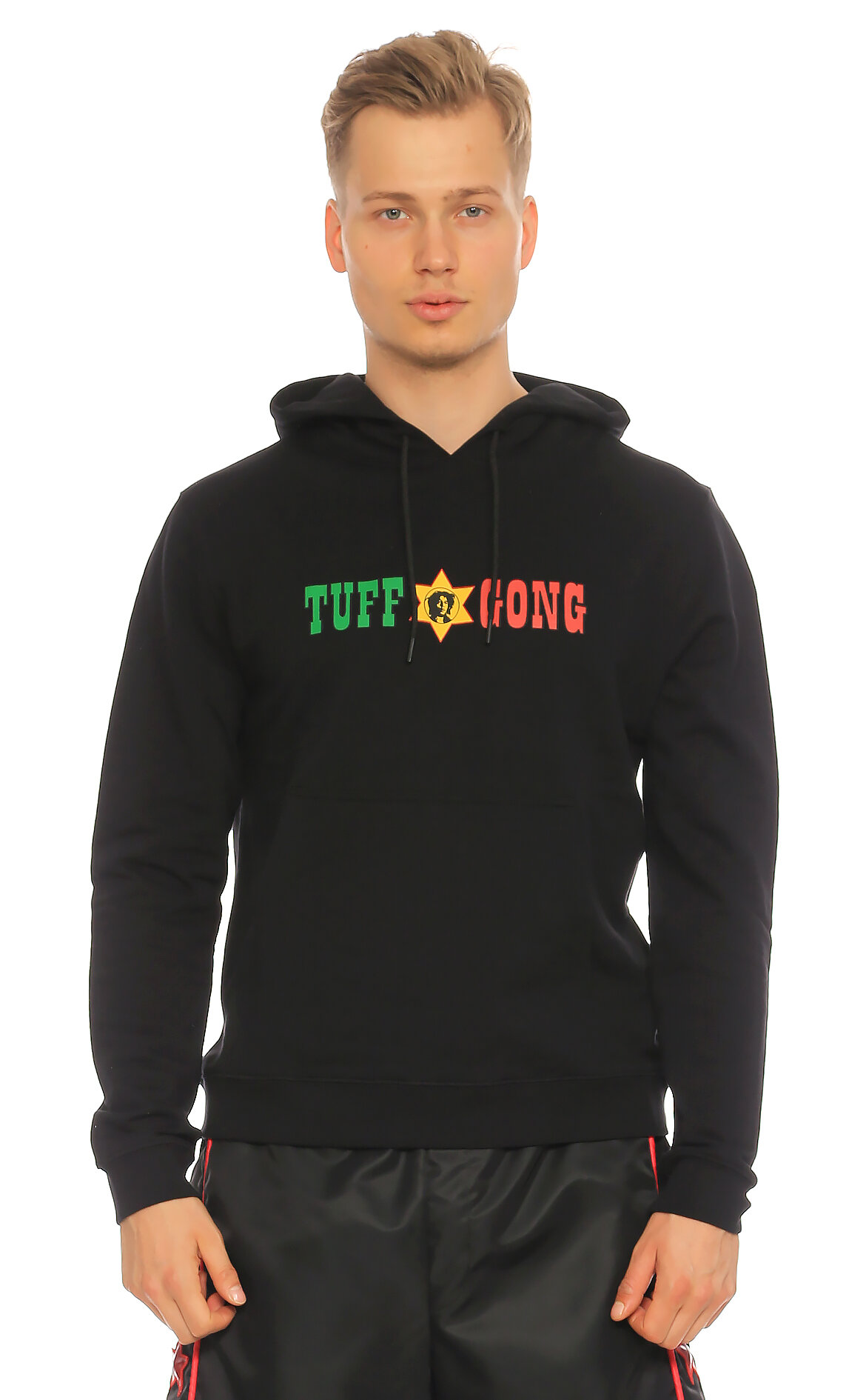 Sandro-Sandro İşleme Detaylı Kapüşonlu Siyah  Sweatshirt