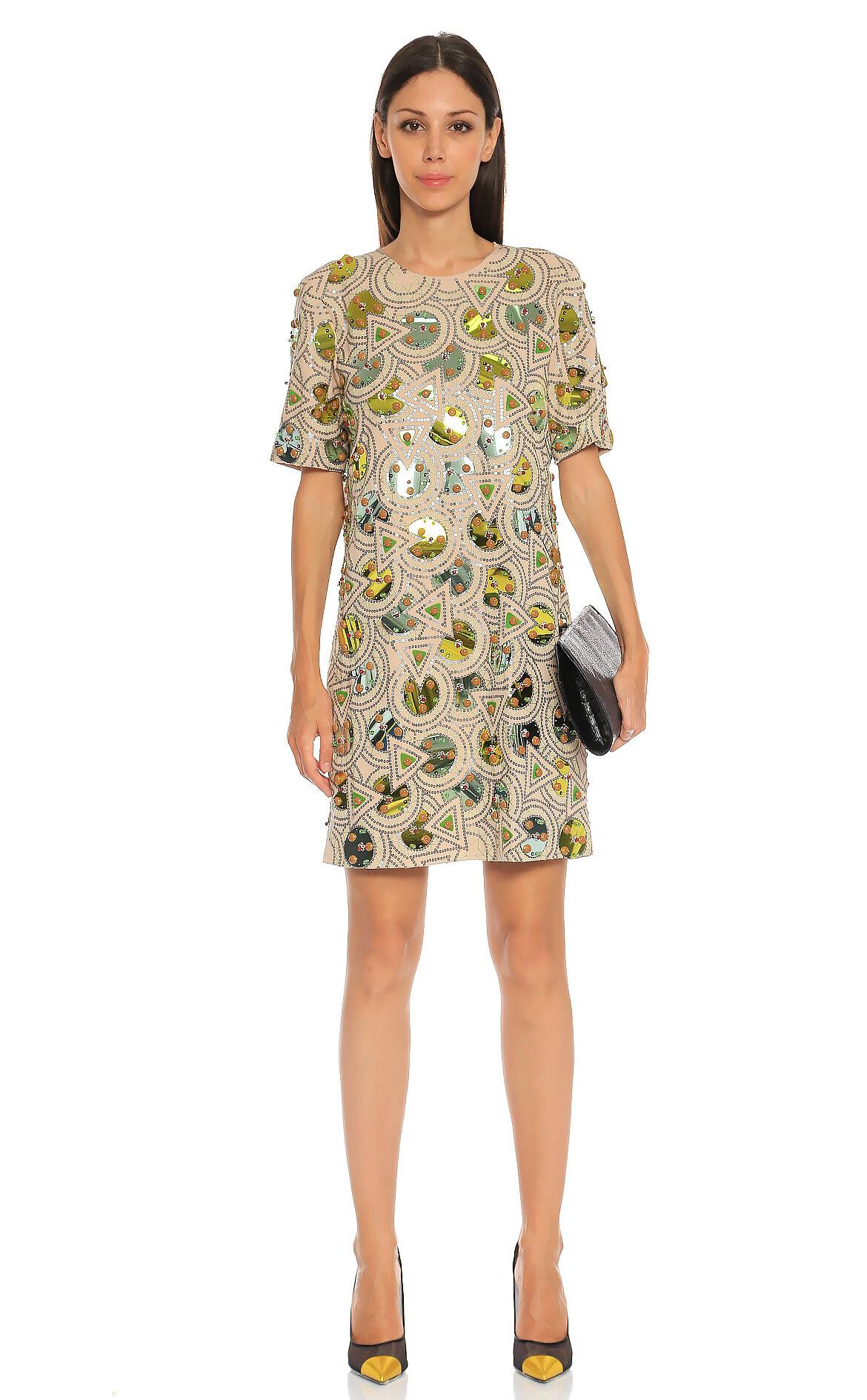 771cb14677d29 DKNY Kadın Pudra Rengi Elbise DKNYP157703MB-PALEPOWDER - Brandroom