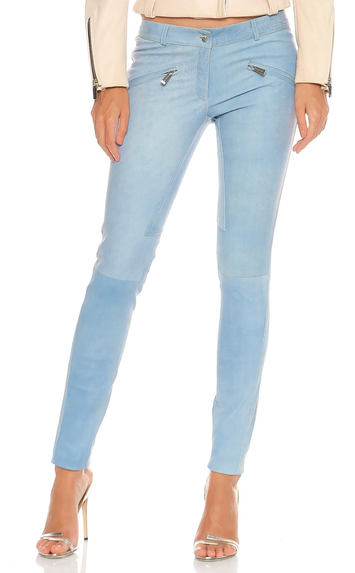 Barbara Bui-Barbara Bui Deri Mavi Pantolon