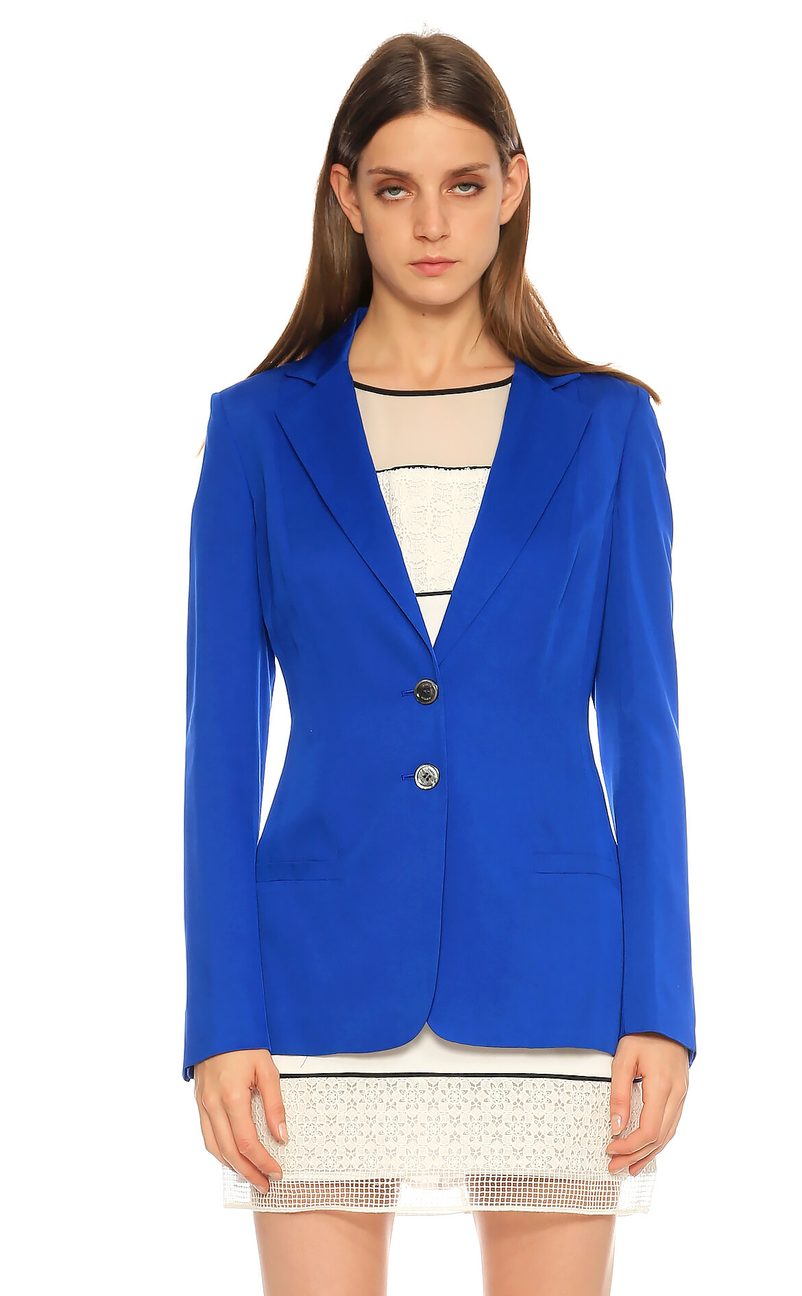 Karen Millen  Düz Desen Mavi Ceket