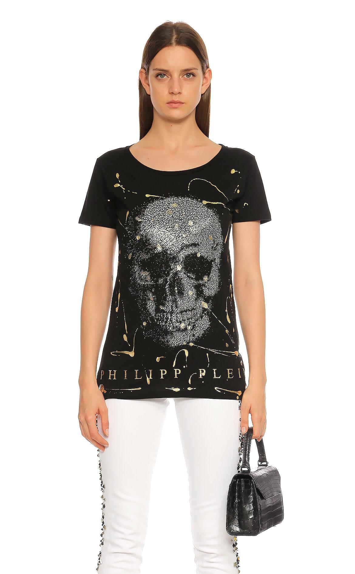 Philipp Plein-Philipp Plein Baskılı Siyah T-Shirt