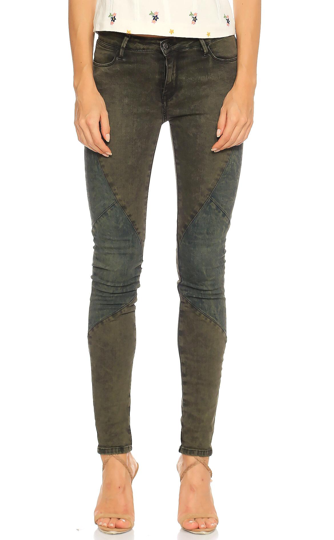 Brocken Bow-Brocken Bow Skinny Yamalı Renkli Jean Pantolon
