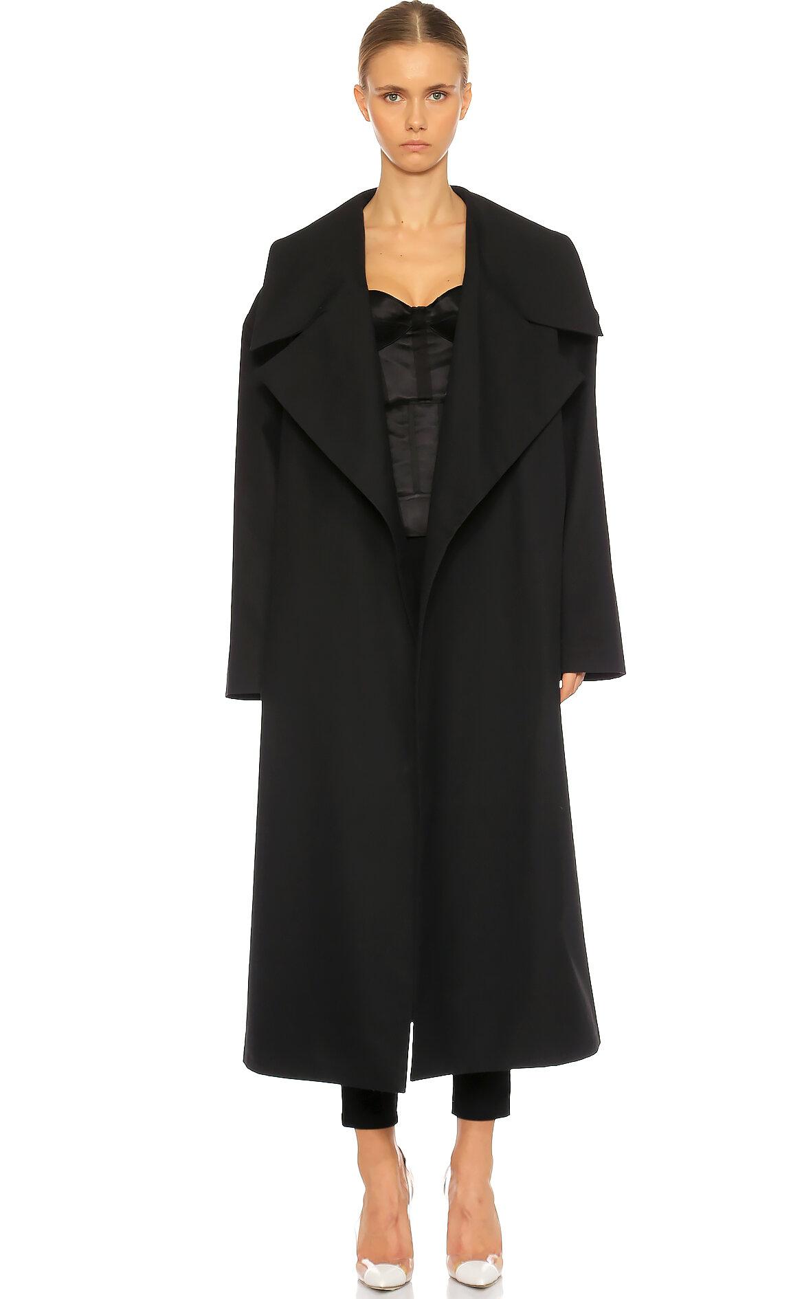 Awake  Kemerli Siyah Palto