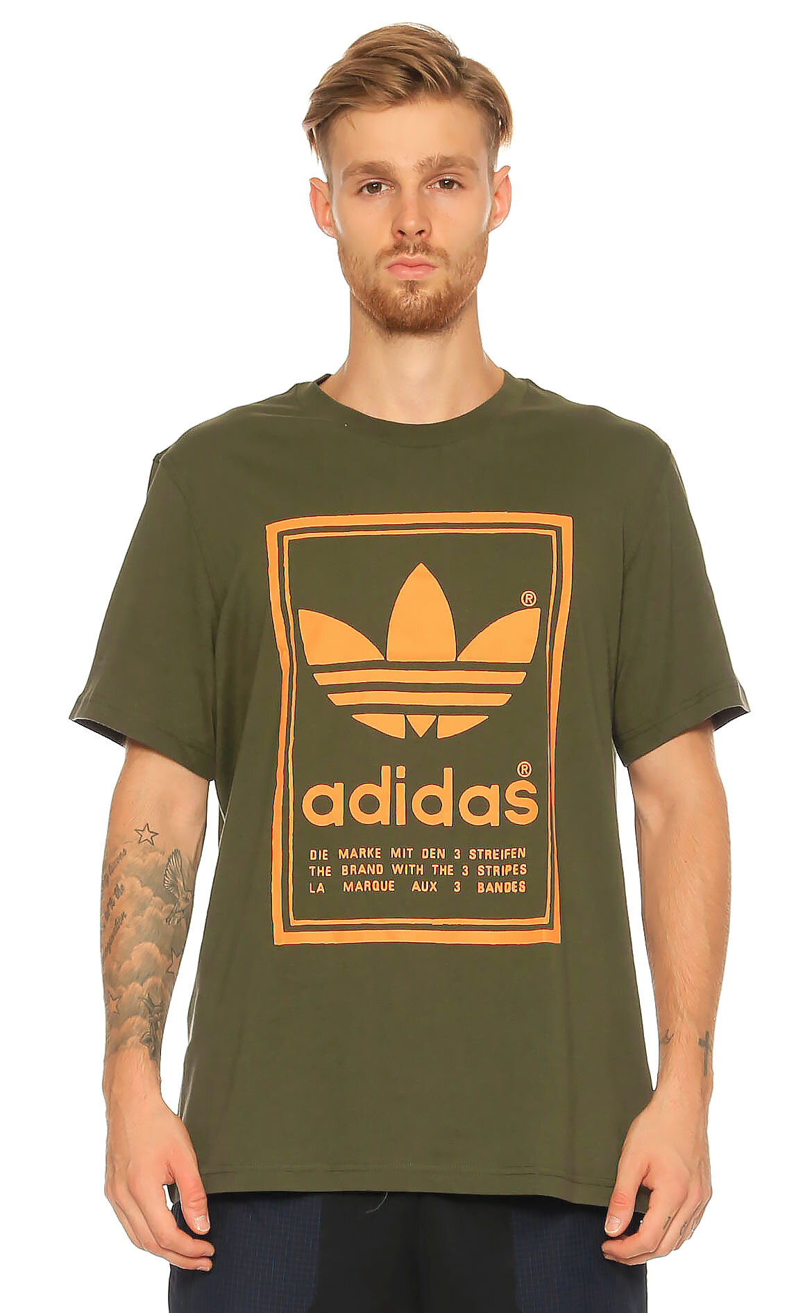 Adidas Originals Baskı Desen Yeşil T-Shirt
