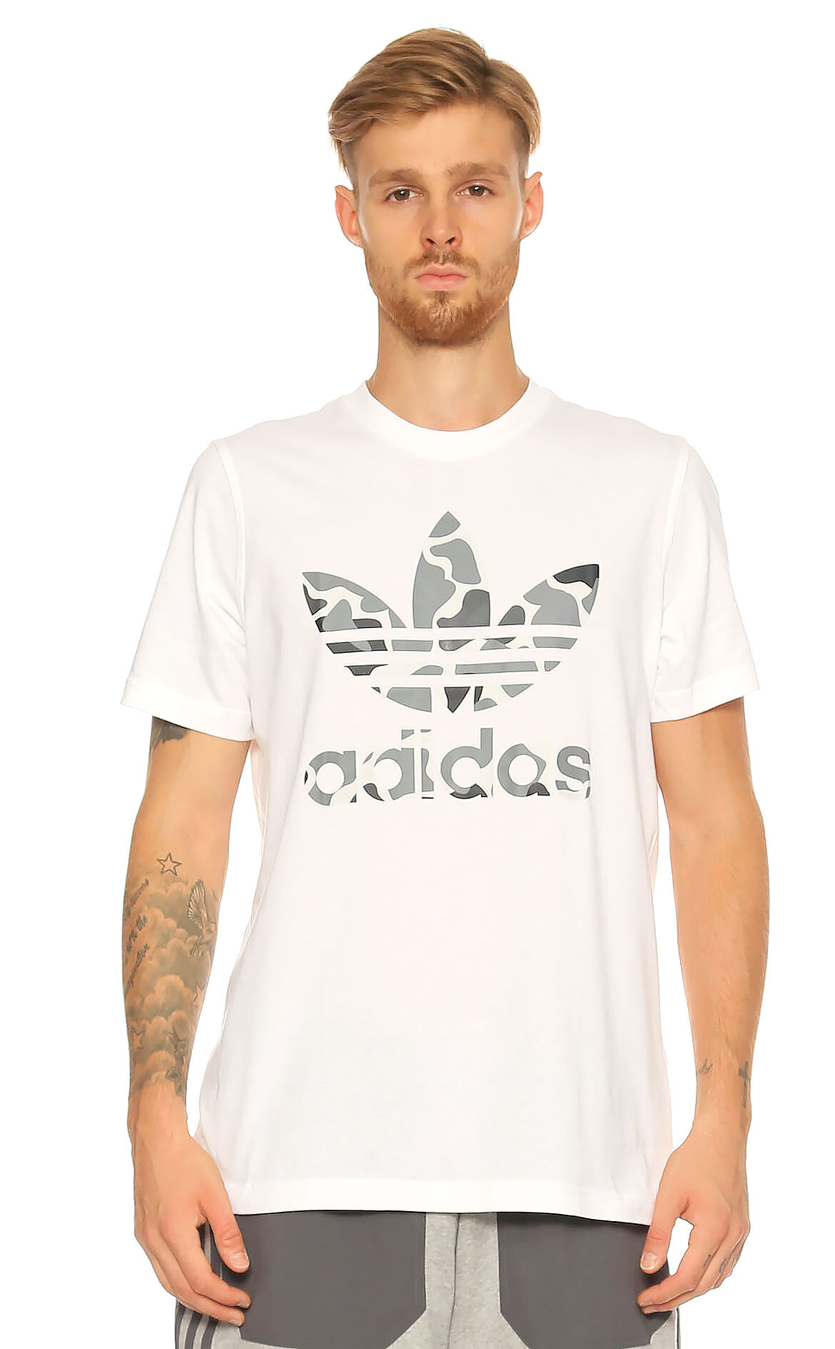 Adidas Originals Baskı Desen Beyaz T-Shirt
