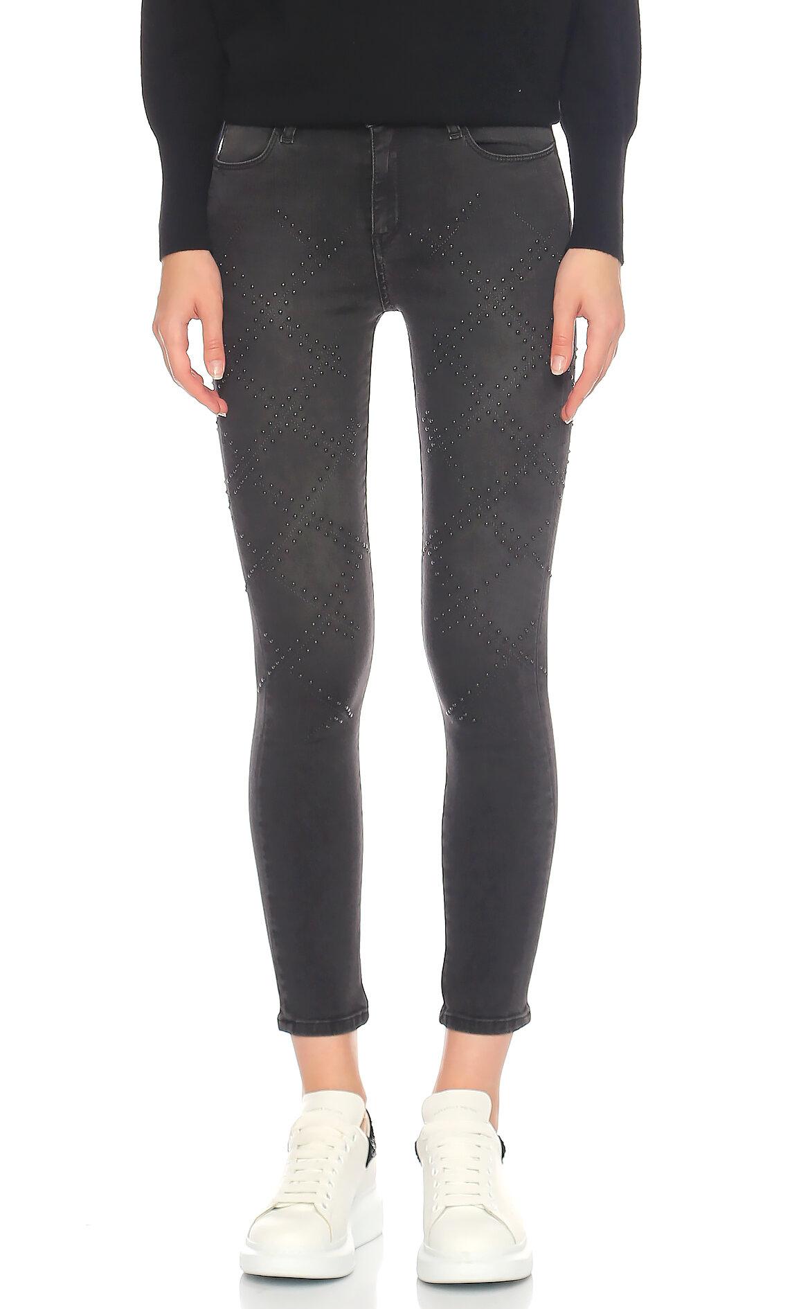 Brocken Bow-Brocken Bow Skinny Jean Siyah Pantolon