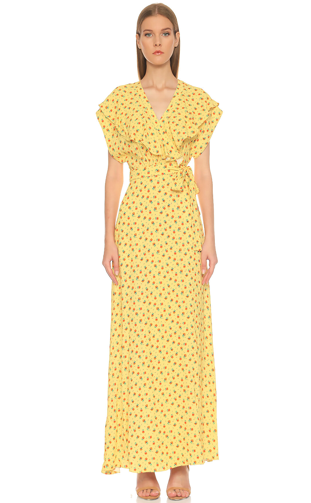 Paul & Joe-Paul & Joe Çiçek Desenli Uzun Renkli Elbise