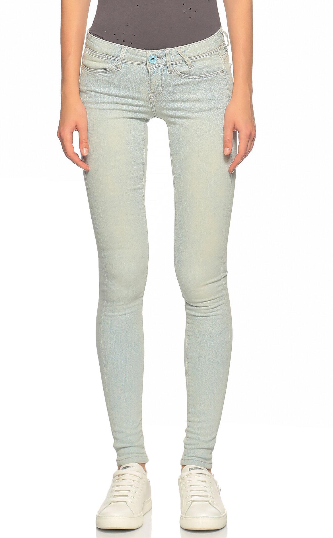 Guess-Guess Skinny Jean Beyaz Pantolon