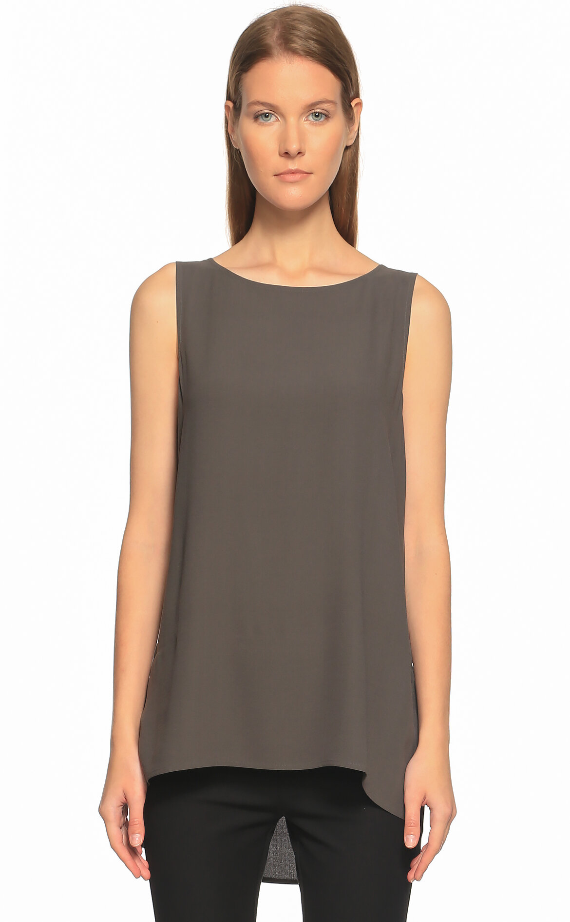 Eileen Fisher  Kolsuz Antrasit  Bluz