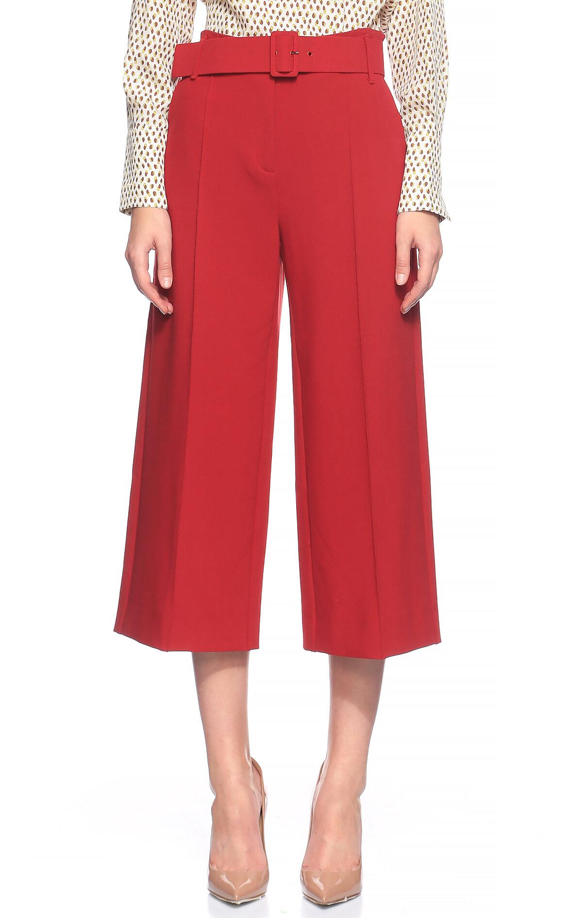 Penny Black-Penny Black Yüksek Belli Kırmızı Pantolon