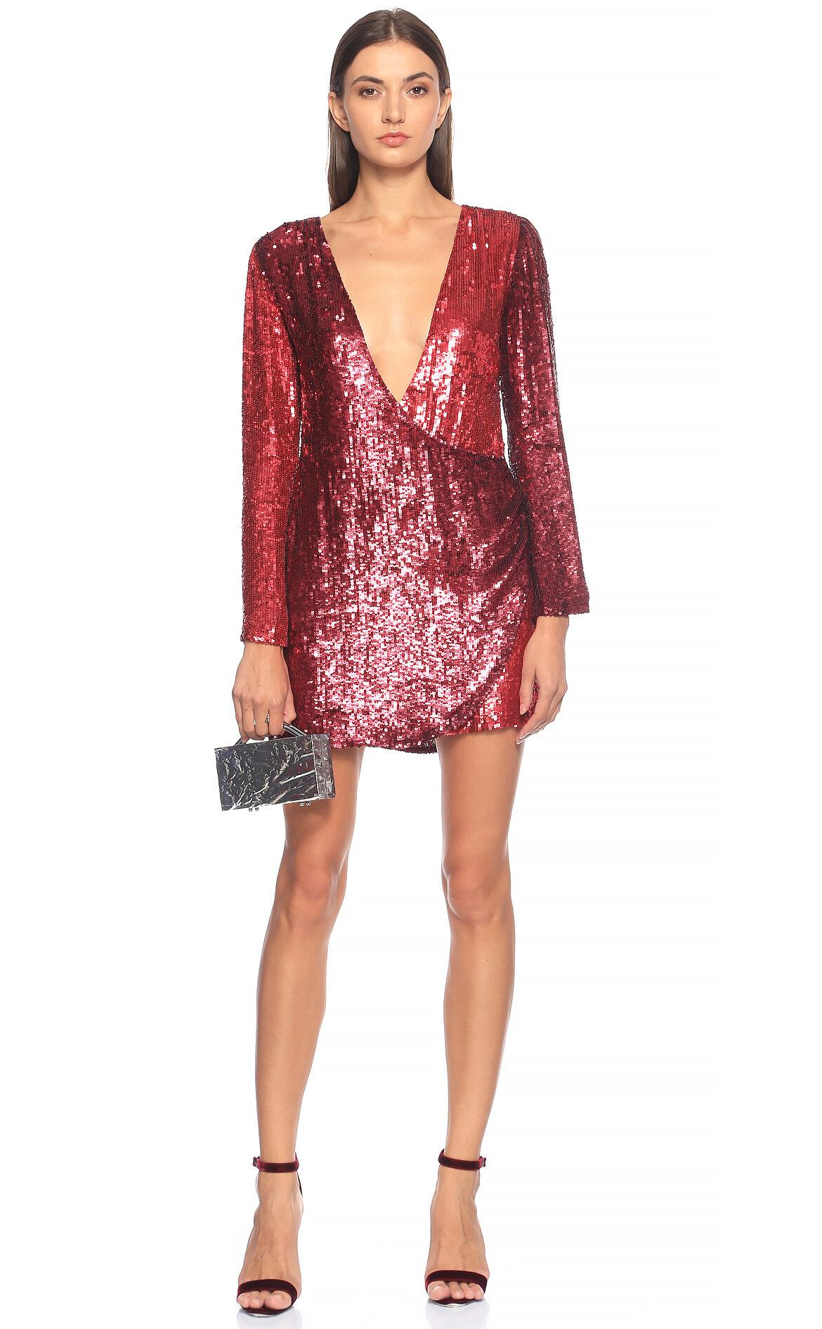 Retrofete-Retrofete Pul-Payet İşlemeli Mini Elbise