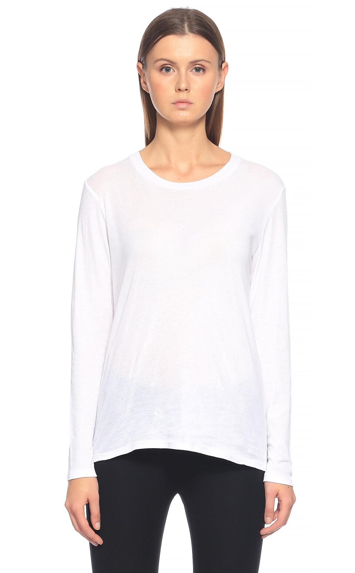 Tru-Tru Uzun Kollu Beyaz T-Shirt