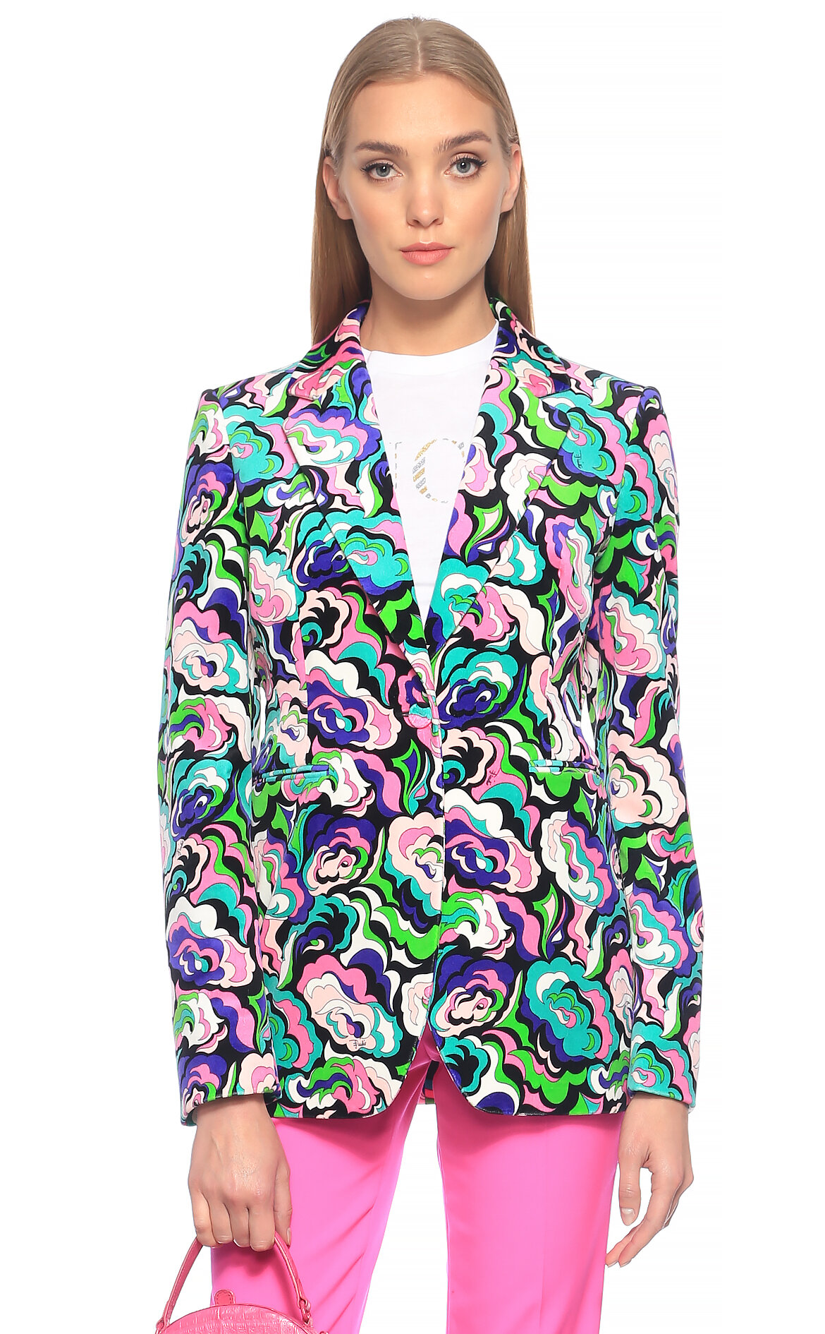 Emilio Pucci  Karma Desenli Renkli Ceket