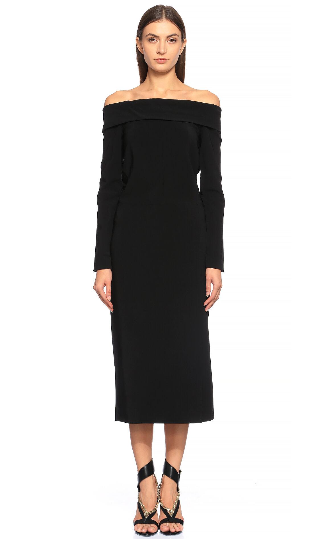 Lanvin  Kayık Yakalı Siyah Elbise