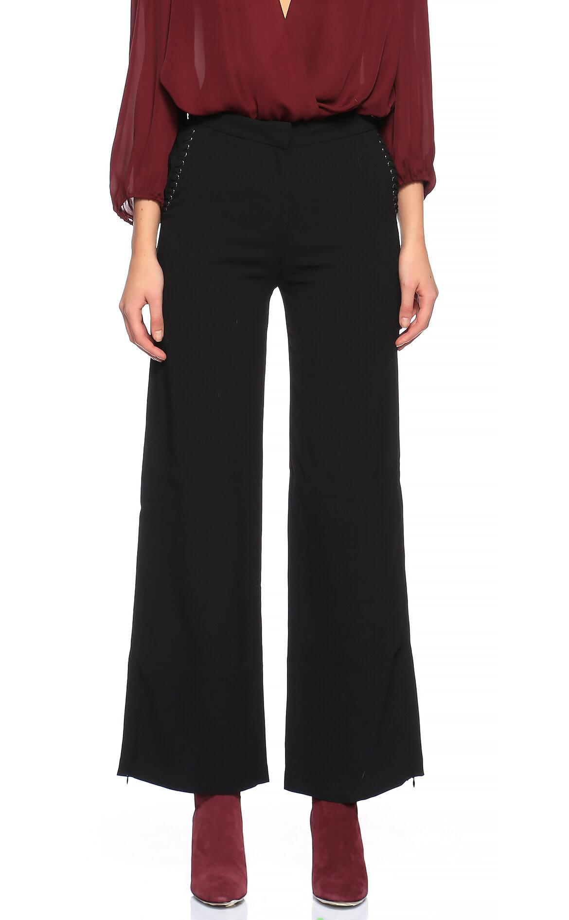 Suncoo  Geniş Paçalı Siyah Pantolon