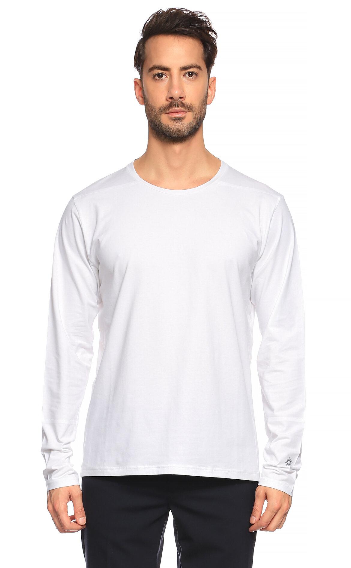 Isaora-Isaora Uzun Kollu Beyaz T-Shirt