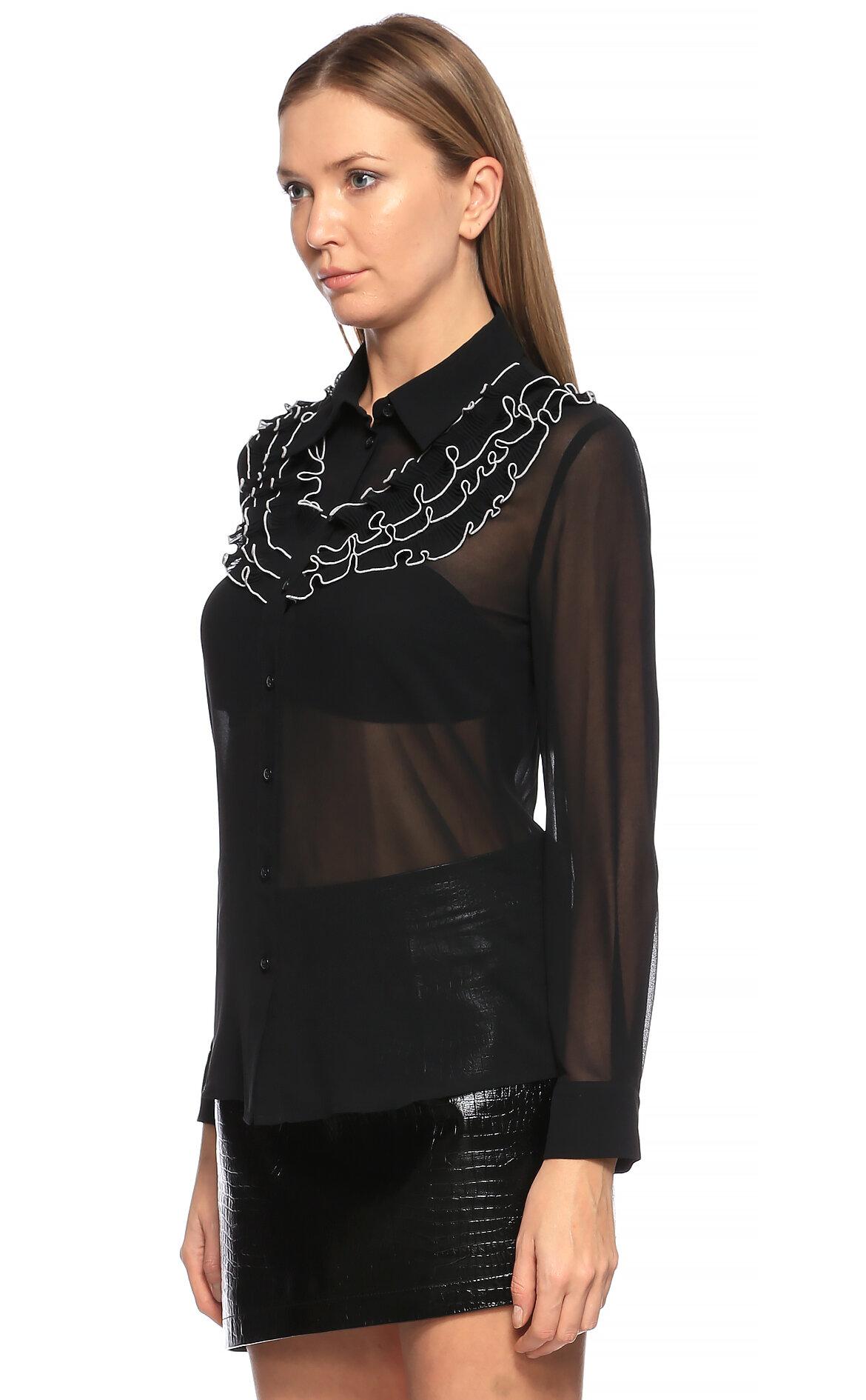 Boutique Moschino Şifon Siyah Gömlek