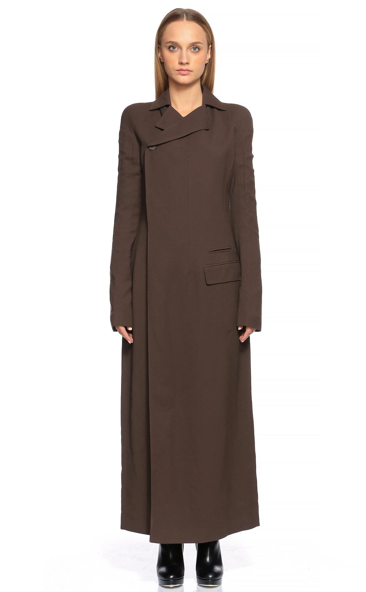 Haider Ackermann  Kahverengi Uzun Ceket