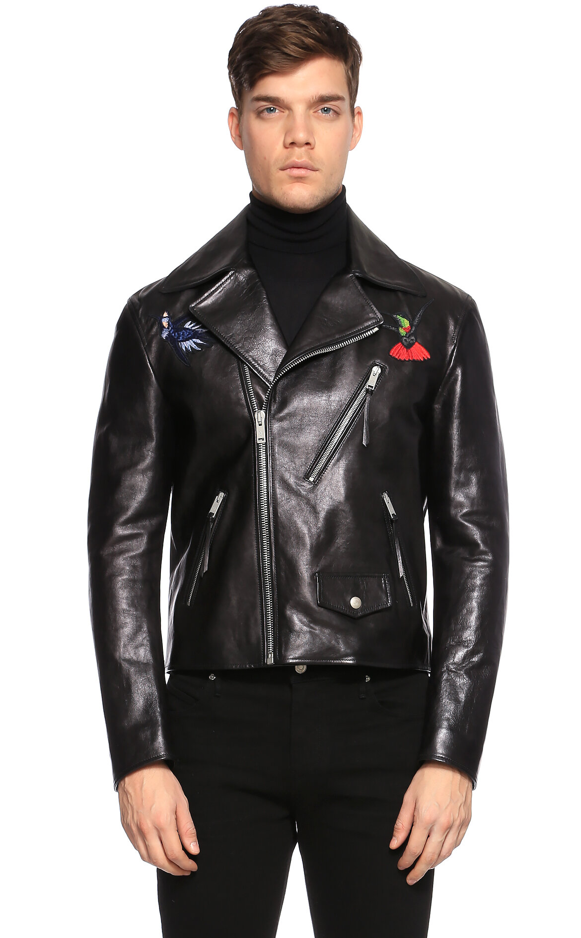Alexander McQueen Siyah Deri Ceket