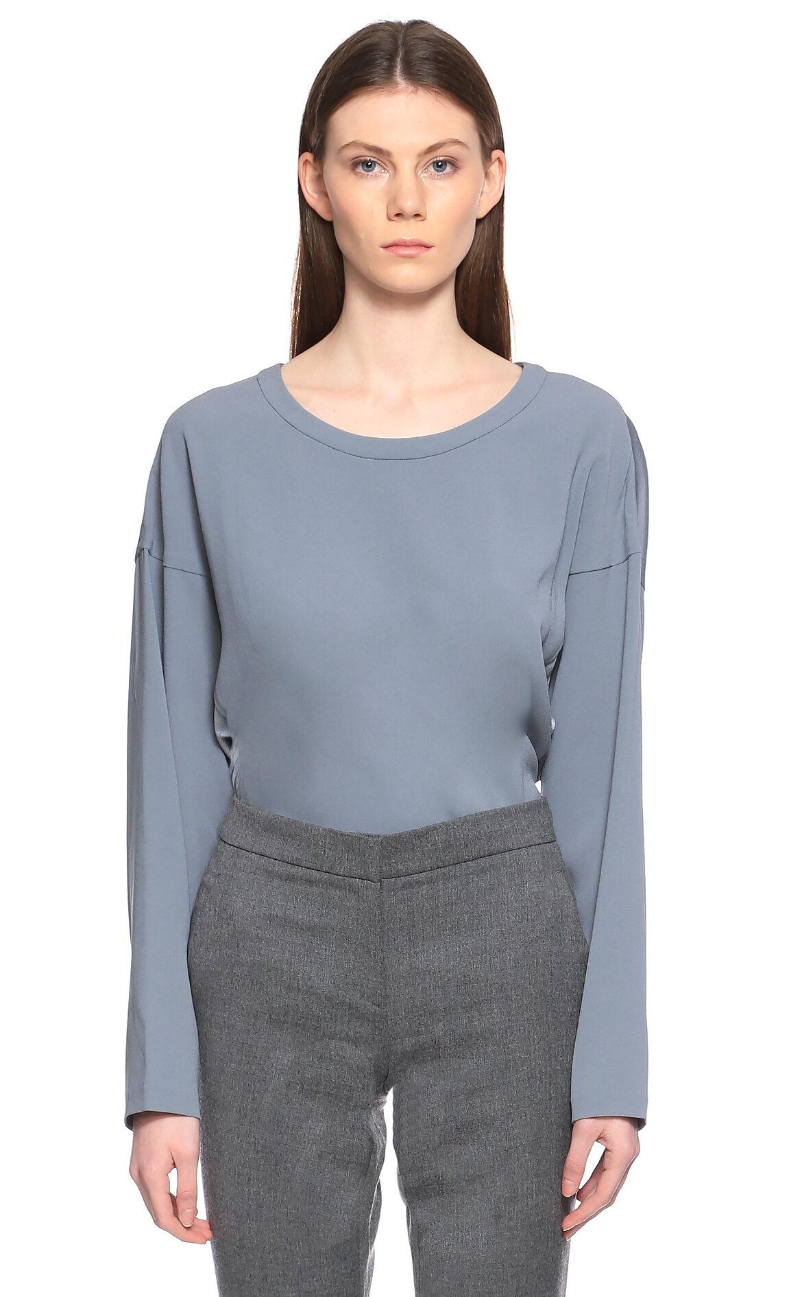 DKNY Fermuar Detaylı Mavi Bluz