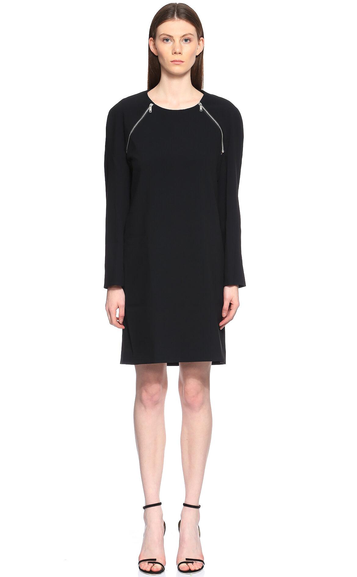 DKNY  Kol Detaylı Siyah Elbise