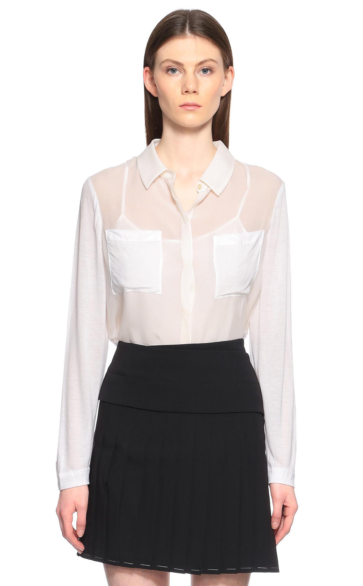 DKNY Cepli Beyaz Gömlek