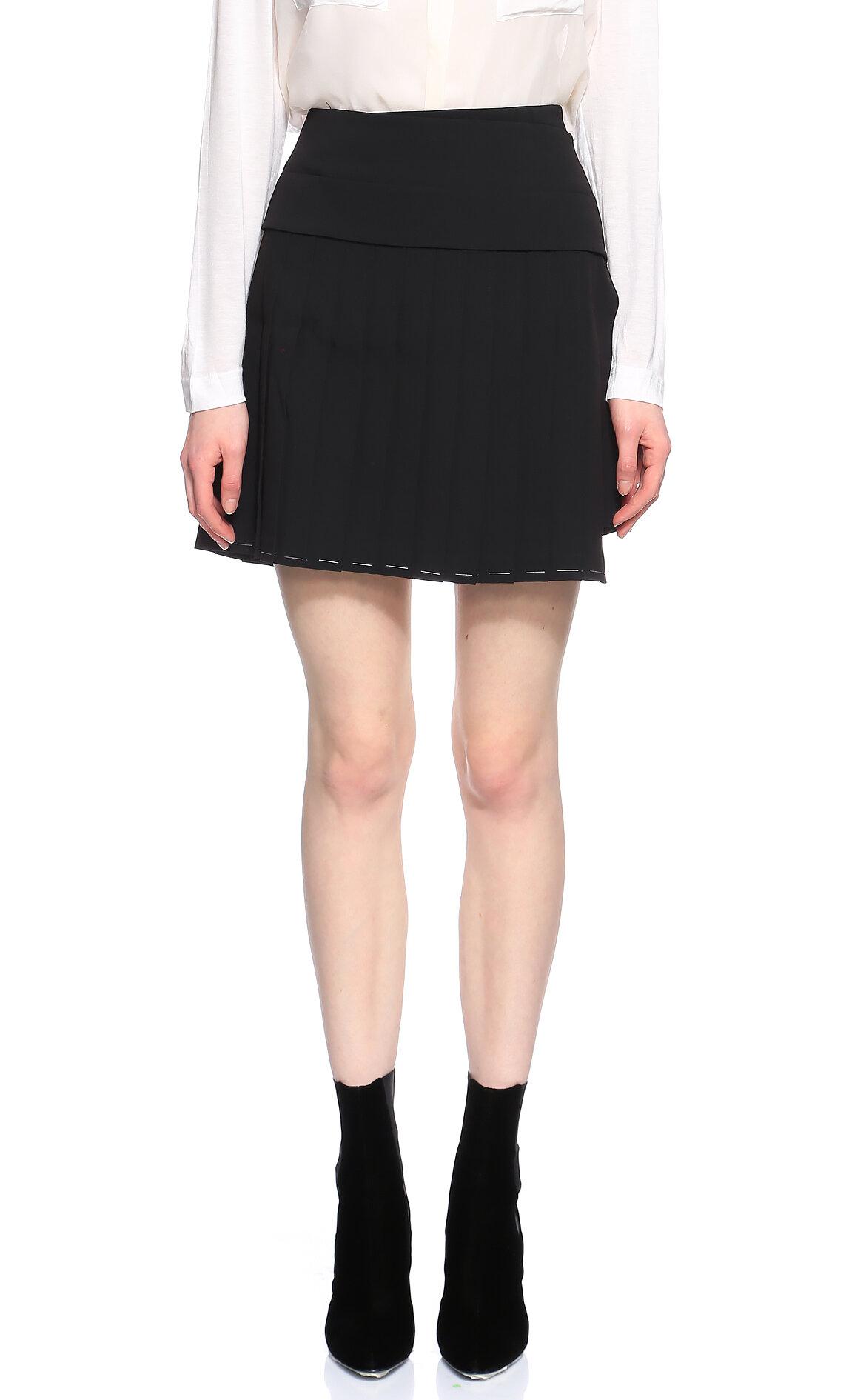 DKNY-DKNY Siyah Mini Etek