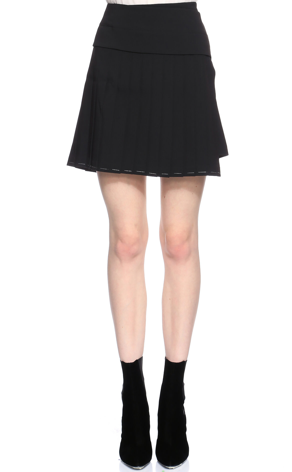 DKNY Siyah Mini Etek