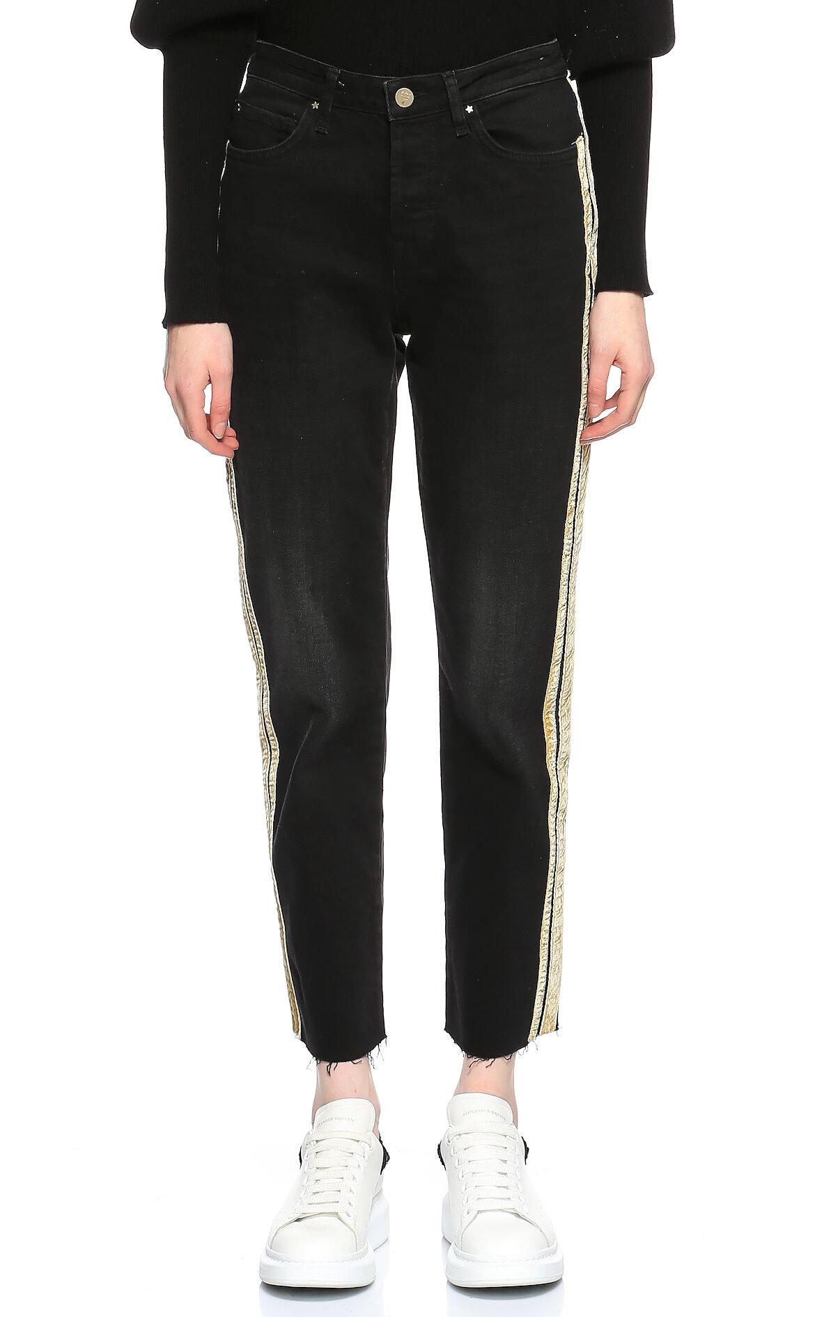 Silvian Heach-Silvian Heach Siyah-Gold Jean Pantolon