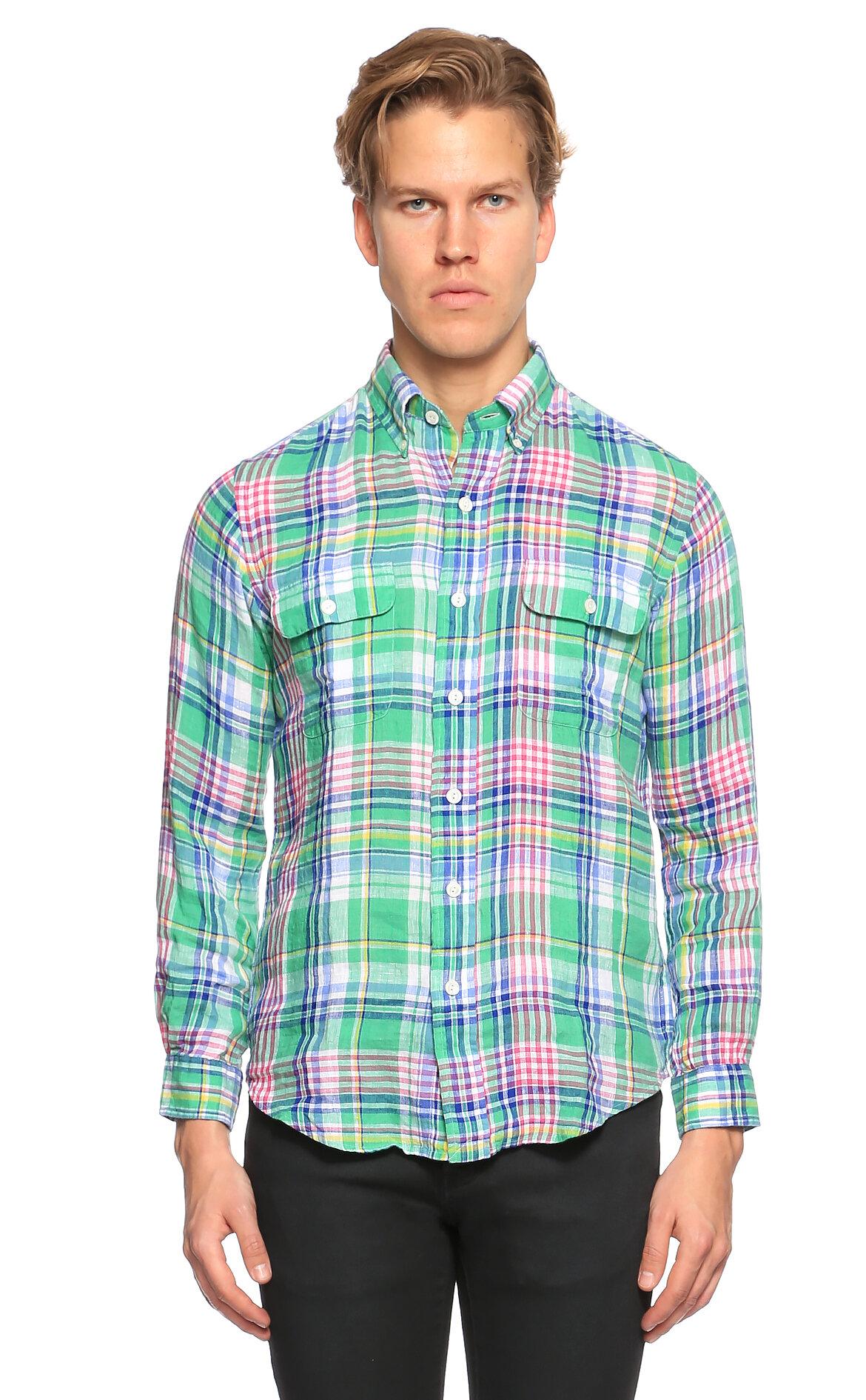 Ralph Lauren Blue Label Kareli Yeşil Gömlek