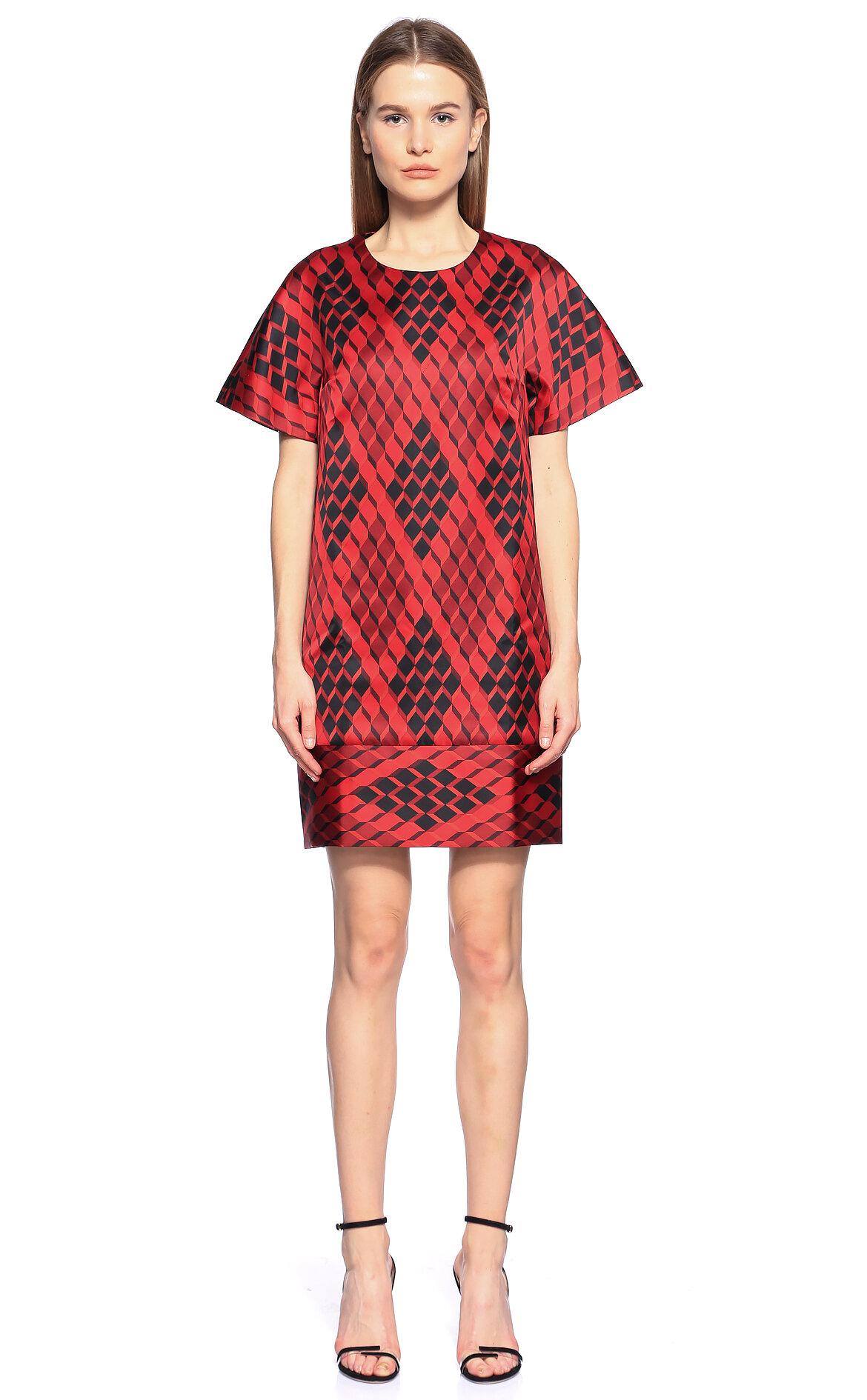 Longchamp-Longchamp Kırmızı Mini Elbise