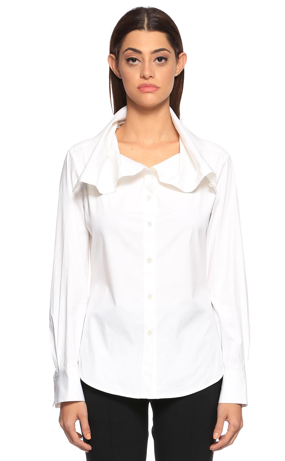Theory-Theory Şal Yaka Beyaz Gömlek