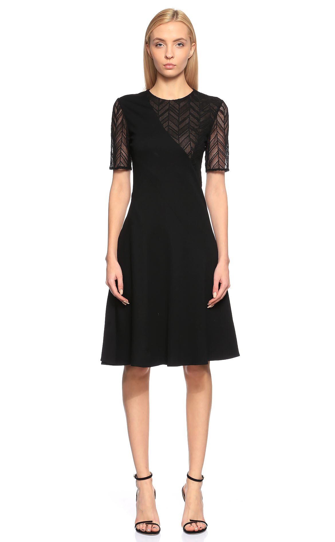 Jason Wu  Dantel İşlemeli Siyah Elbise