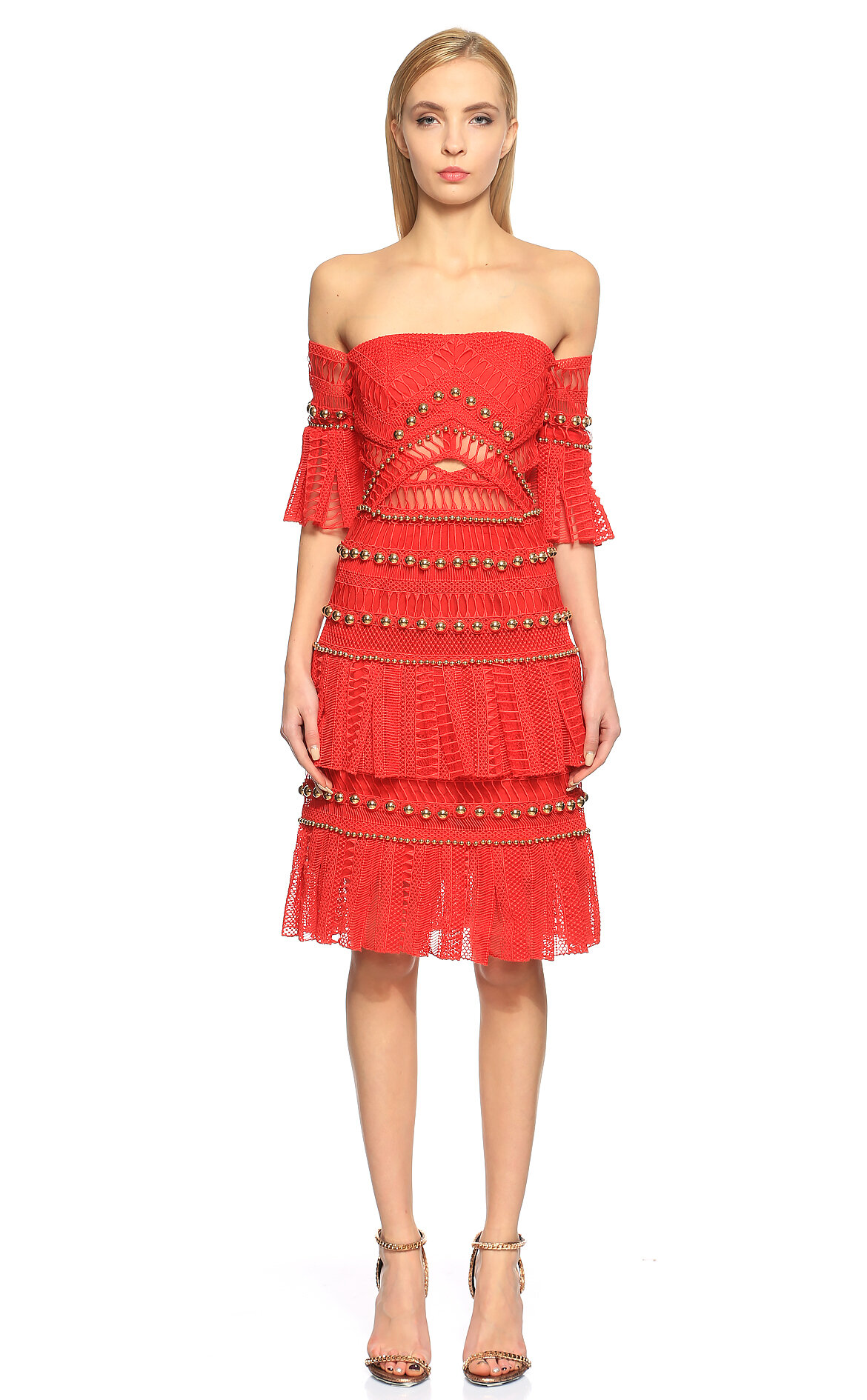 Thurley-Thurley Straplez Elbise