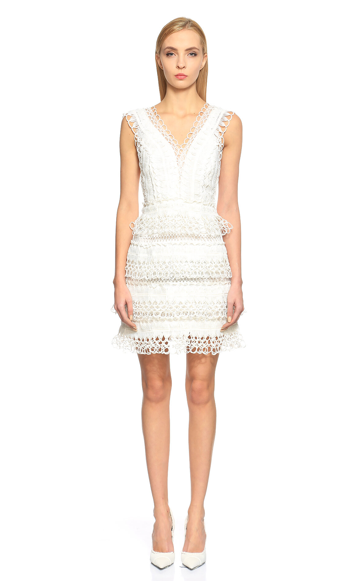 Thurley-Thurley İşleme Detaylı Mini Elbise