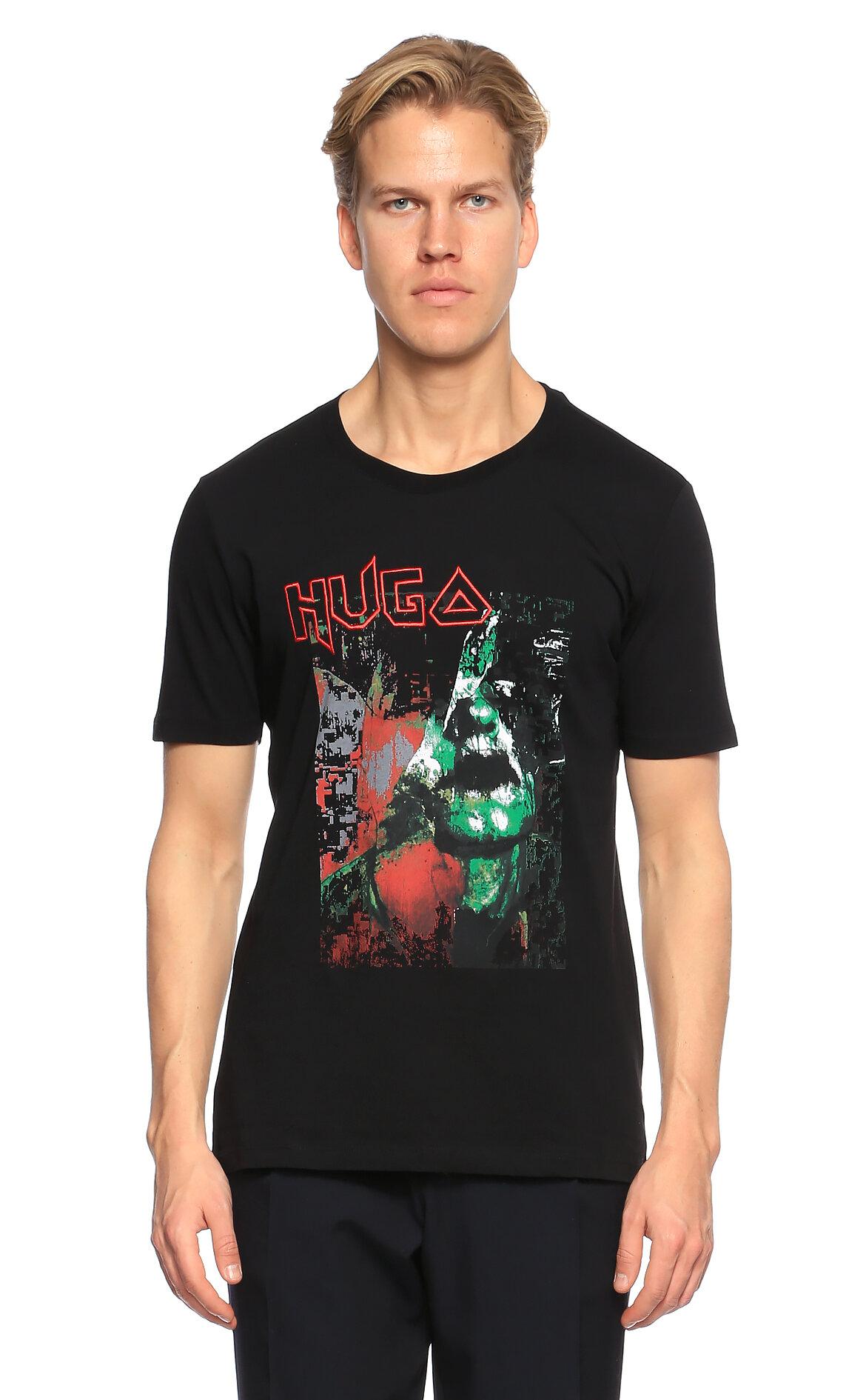 Hugo Boss Hugo Baskı Desen Siyah T-Shirt