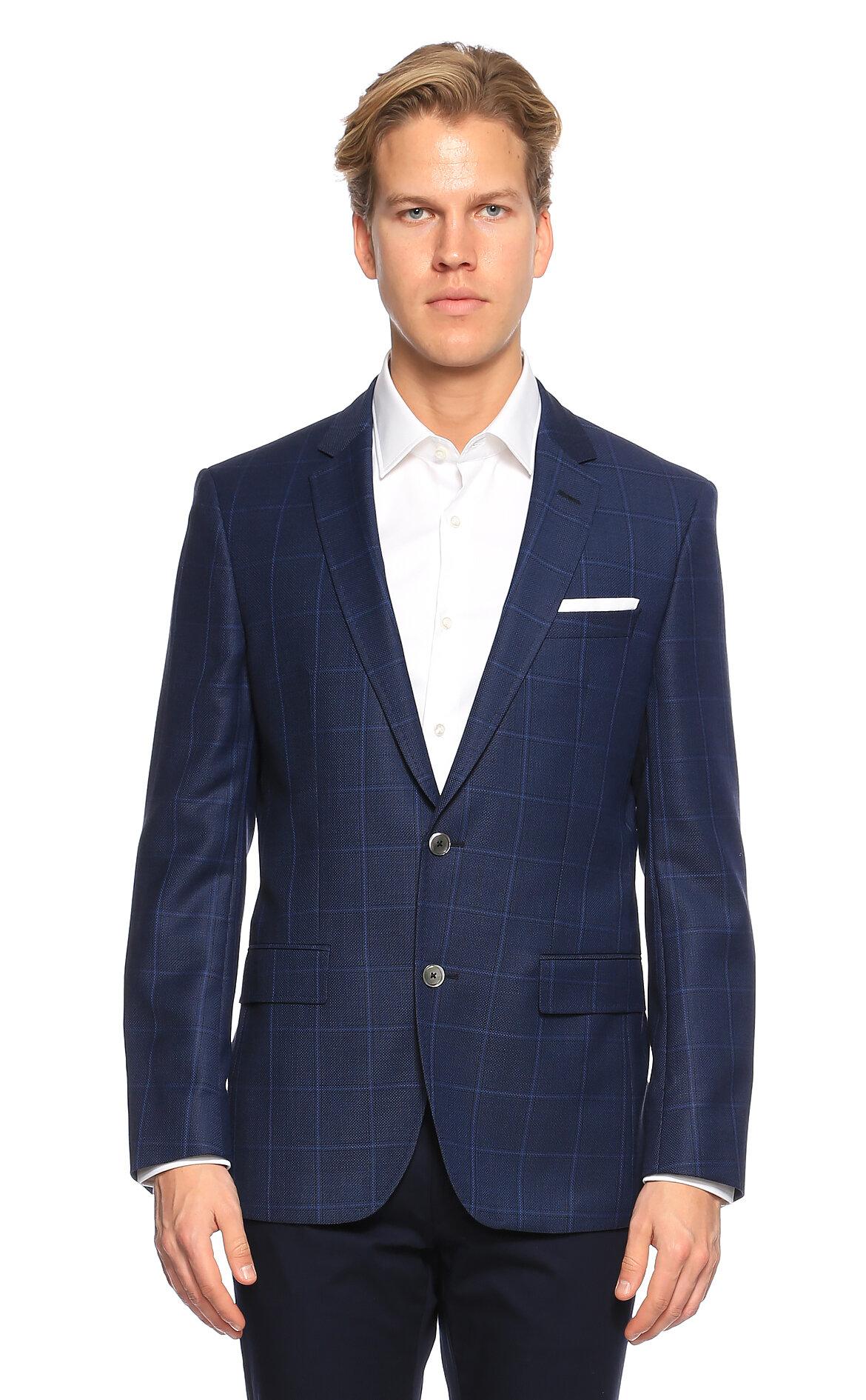 Hugo Boss Kareli Lacivert Ceket