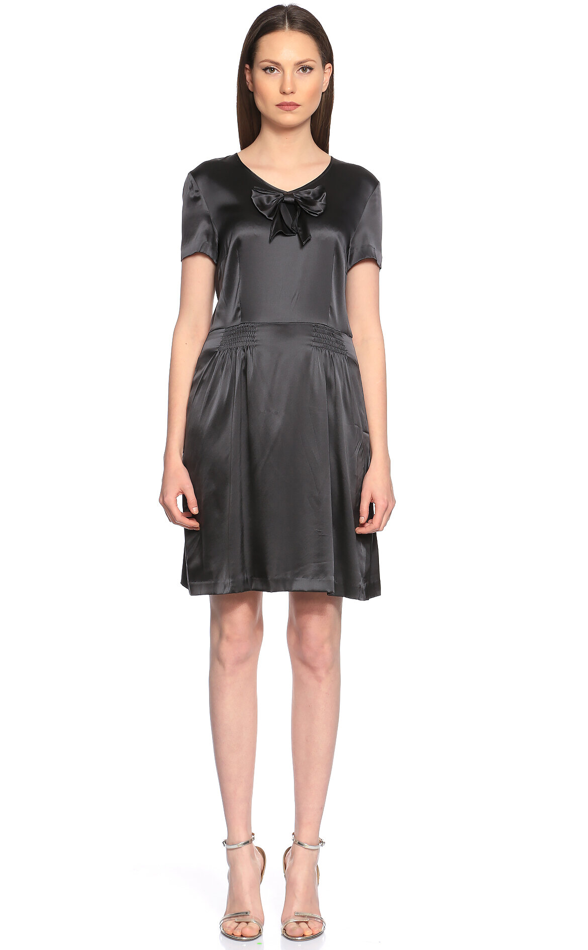 DKNY Gri Elbise