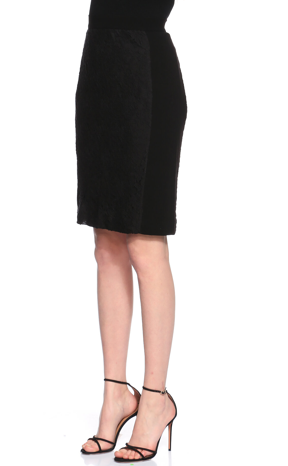 DKNY Dantel Detaylı Siyah Etek