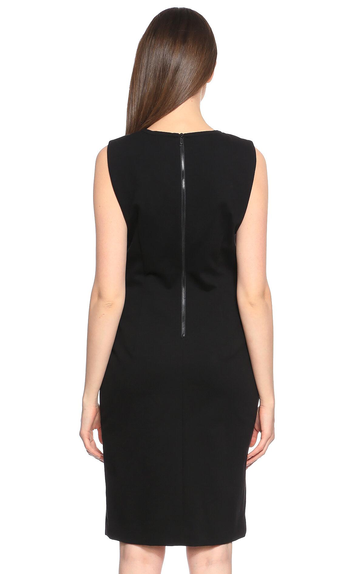 DKNY Kazayağı Desenli Siyah Elbise