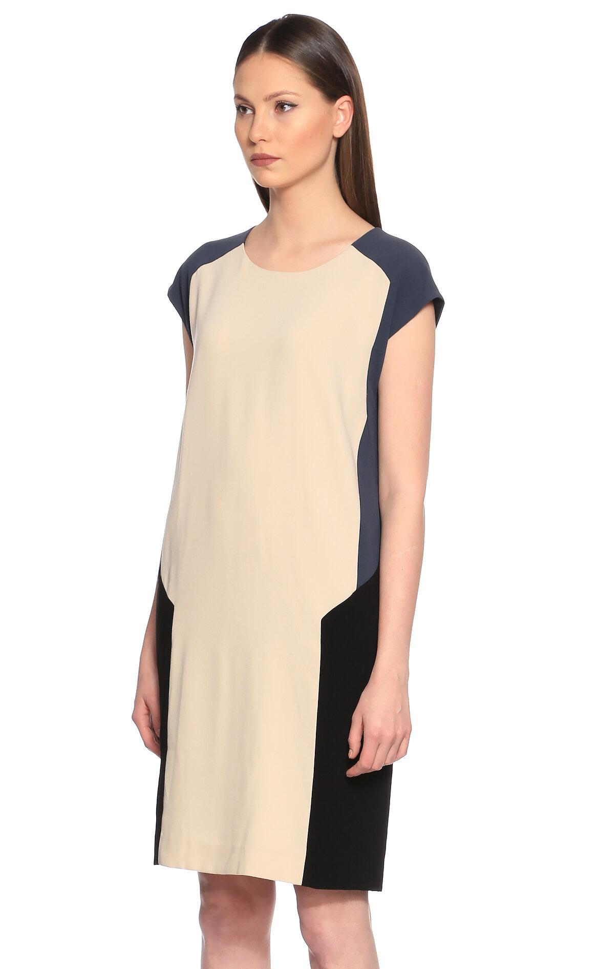 DKNY Karma Desen Renkli Elbise