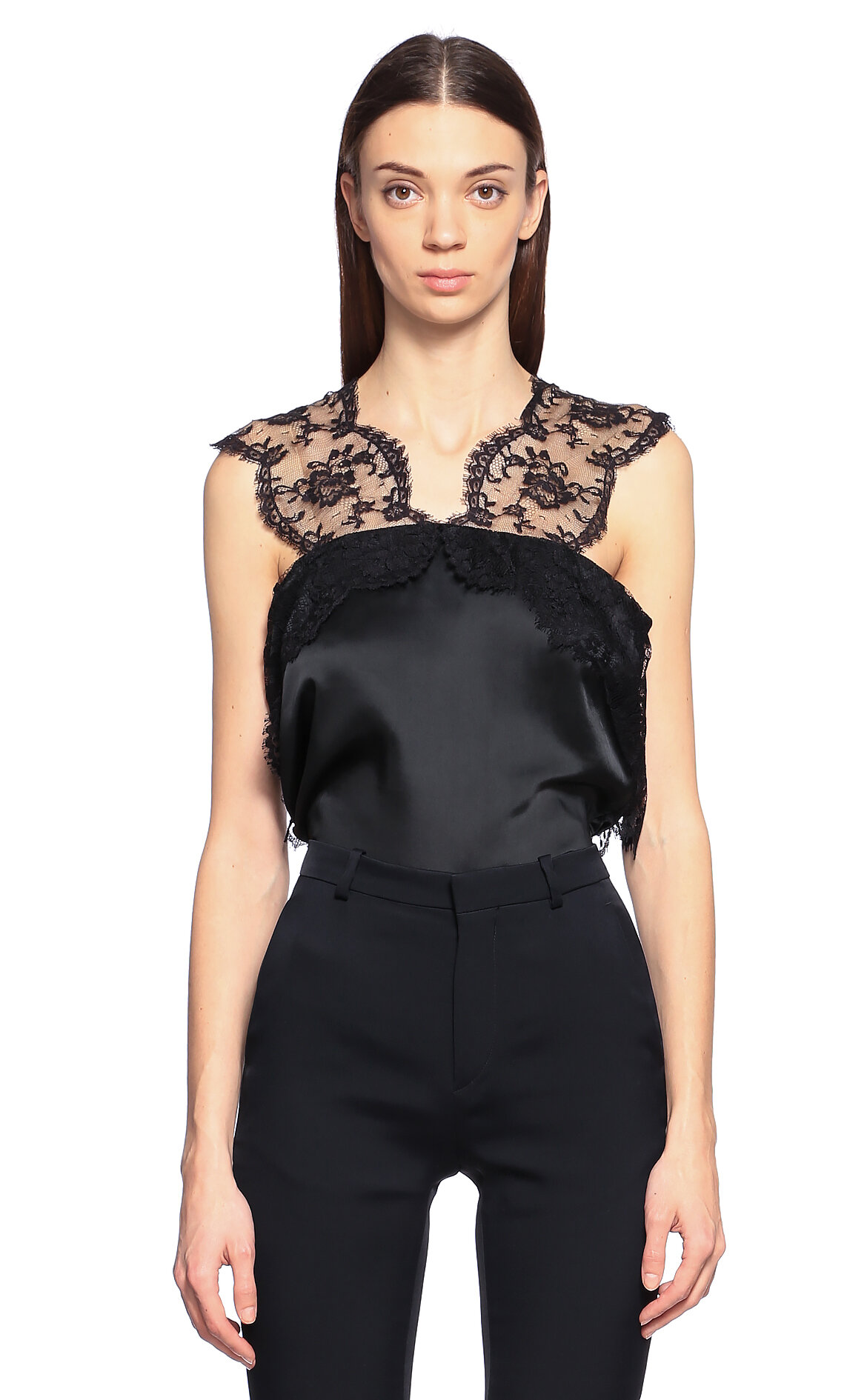 Lanvin  Dantelli Siyah Bluz